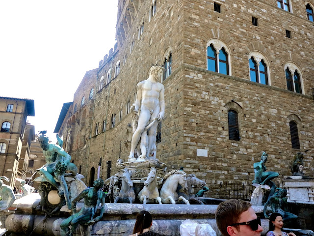 Neptune, god of the sea, statue in the Piazza della Signoria in Florence, Italy