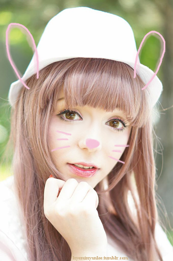 Be a Kawayii with I.Fairy Pon Pon Brown Colored Lenses