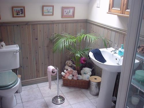 Gostei, postei! Deixe seu banheiro mais bonito -> Banheiro Simples E Bonito