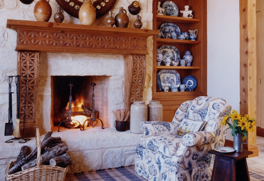 decorating: blue and white combos