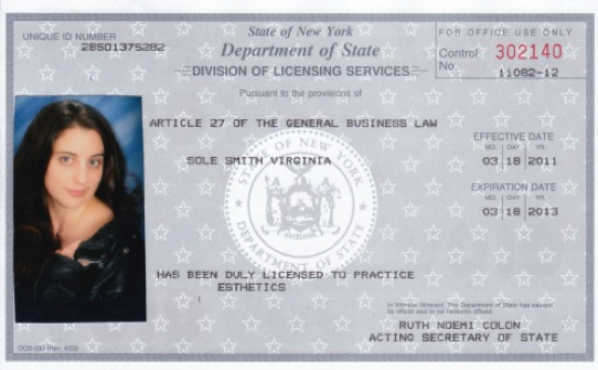 Barber License : ... Shots-style pic that made it onto Virginias esthetics license