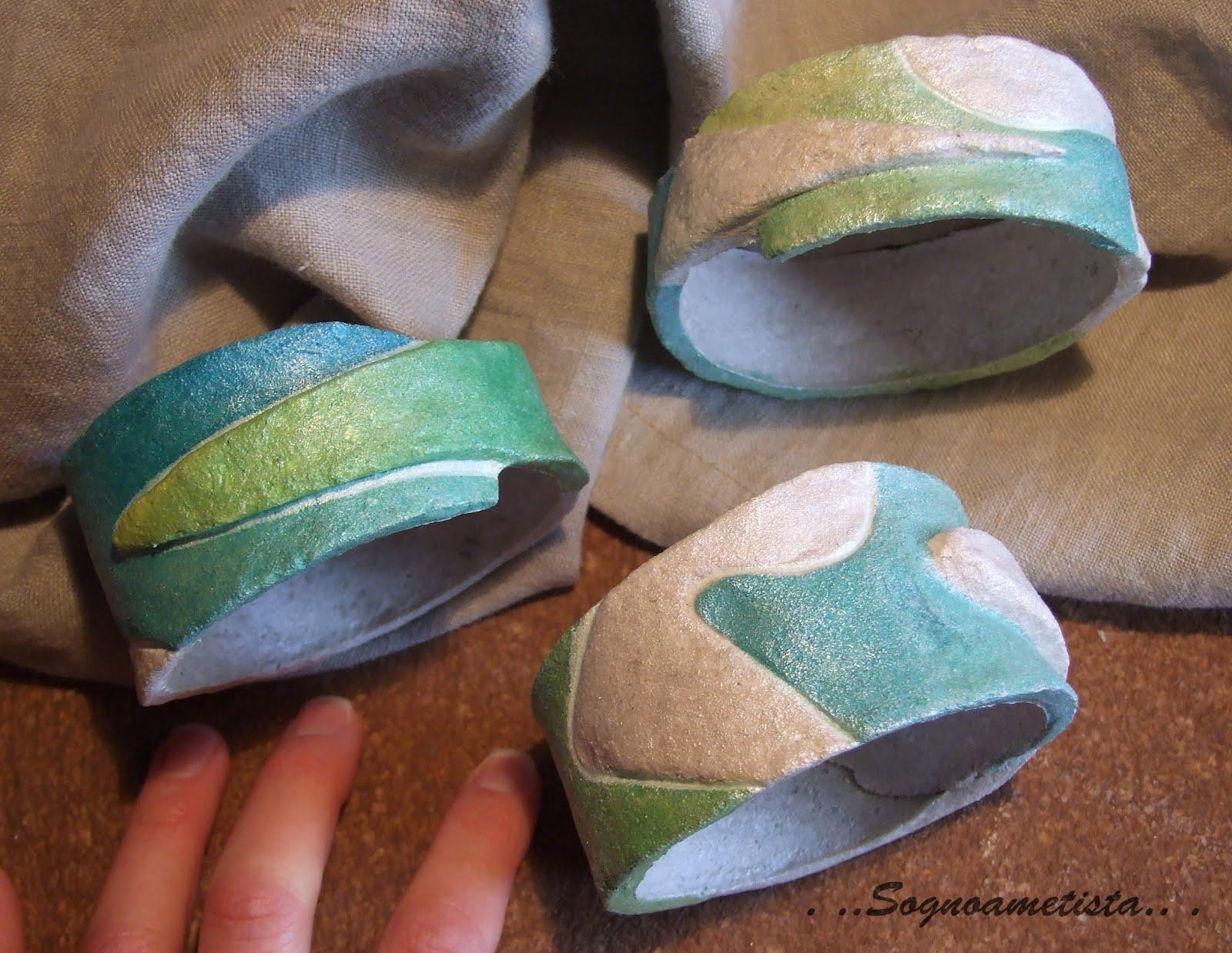 """nuovi braccialetti rigidi,nella linea """"Frammenti"""" color pesca o ..."""