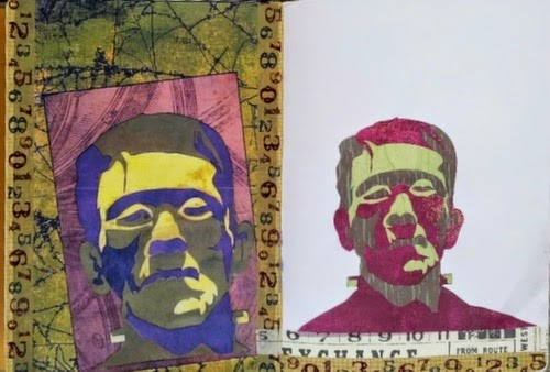 Whoopidooings:Carmen Wing - Paper Pieced Collage  Portrait #100Facesin365 #Face