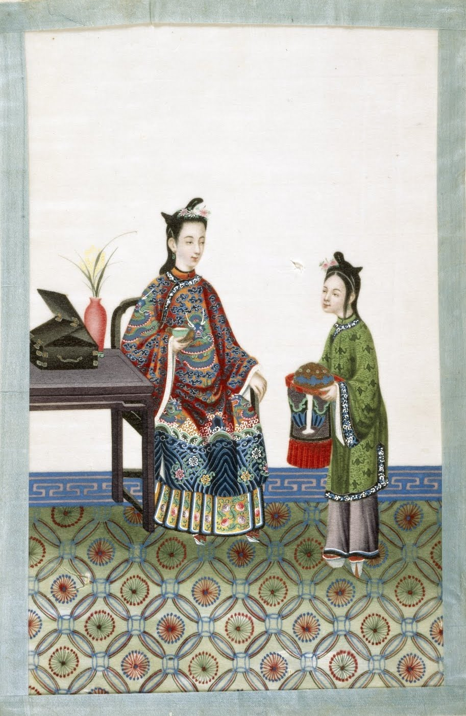 nobleman + servant in 19th century China
