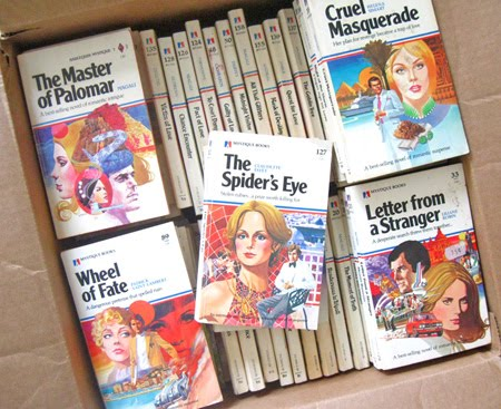 ismoyo's vintage playground: box of mystique romance mystery novels