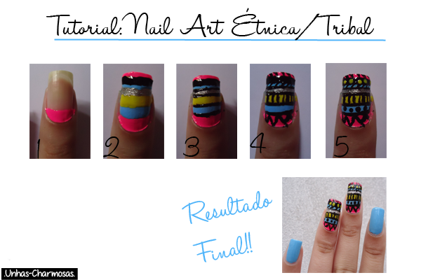 nail art tribal, nail art étnica, unhas tribal, unhas étnicas, como fazer unha tribal, estampa tribal, estampa étnica, tutorial, tutorial nail art tribal, tutorial nail art étnica, tutorial unhas tribal