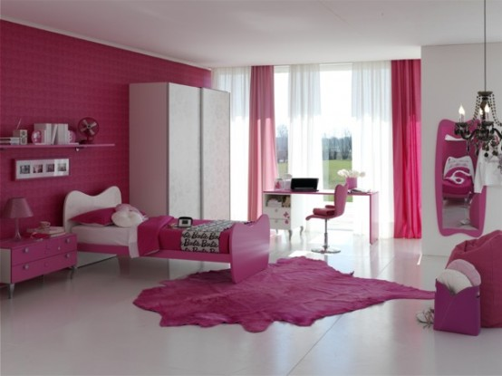 make your life colorful cute bedroom with barbie theme