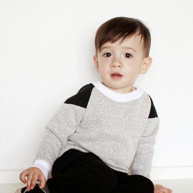 Black shoulder sweatshirt by Moon Fries for spring 2014