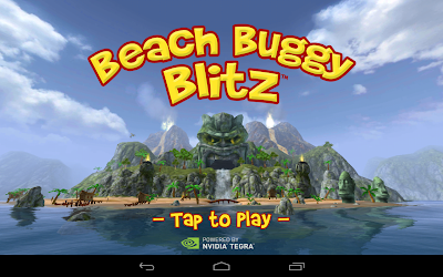 Beach buggy blitz the racing game: Opening screen