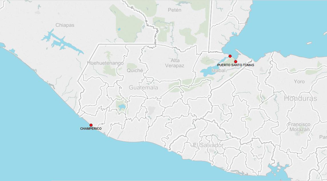 PORTS IN GUATEMALA