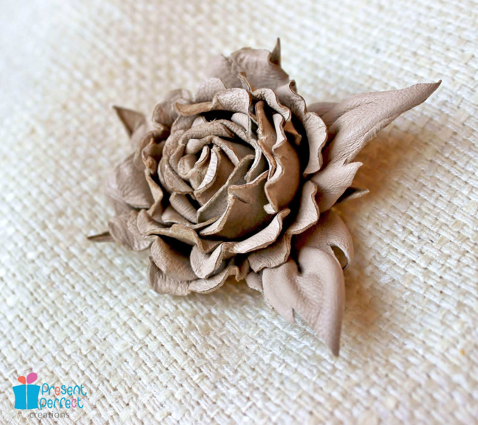 Present Perfect Creations: Leather rose