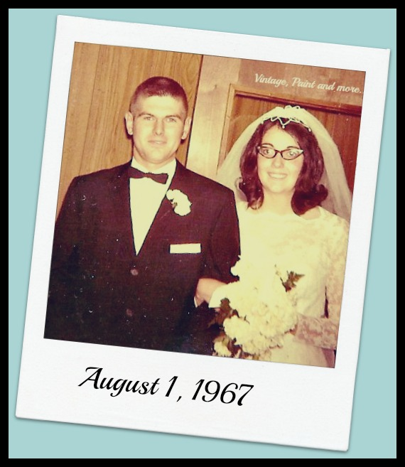Vintage, Paint and more... our wedding picture