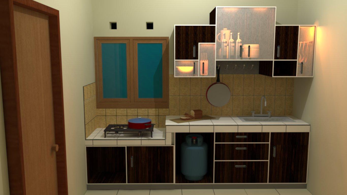 Kitchen set straight model ramako archkreasi for Model kitchen set