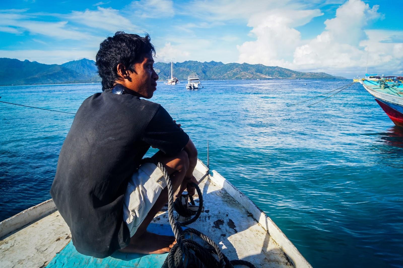 barco de gili air a lombok