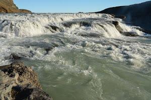 The upper part of the Gullfoss waterfall