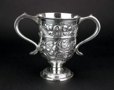 ANTIQUE 18thC GEORGIAN SOLID SILVER TROPHY CUP, THOMAS LAW, SHEFFIELD c.1794