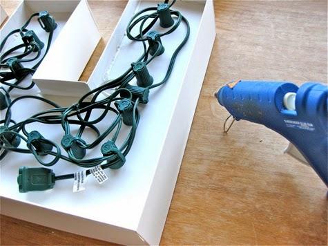 Letra con forma de caja para albergar bien las bombillas para lámpara diy