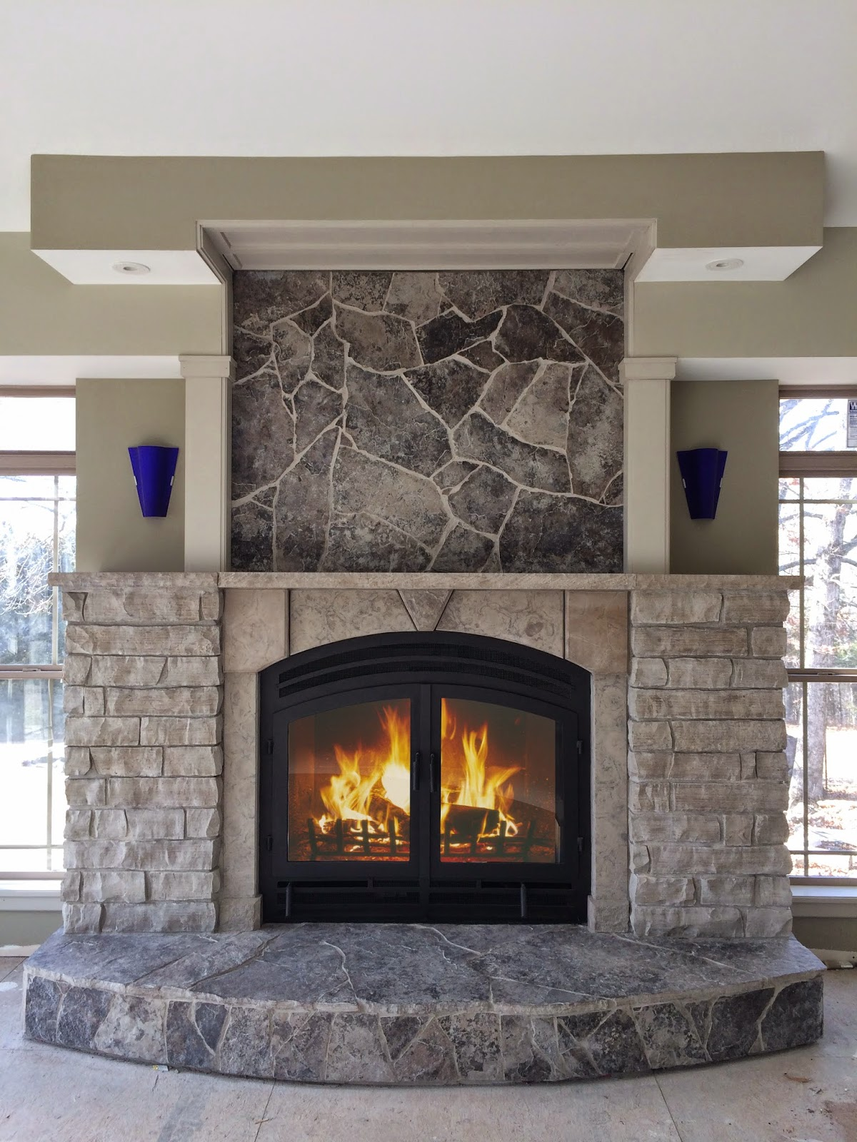 Acucraft fireplaces for New construction wood burning fireplace