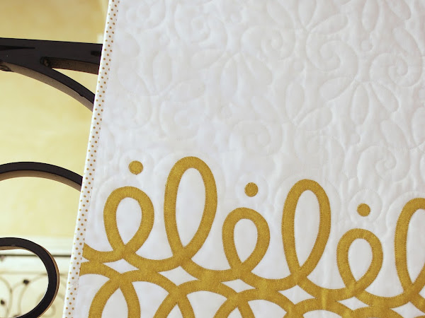 Gold + White Baby Quilt