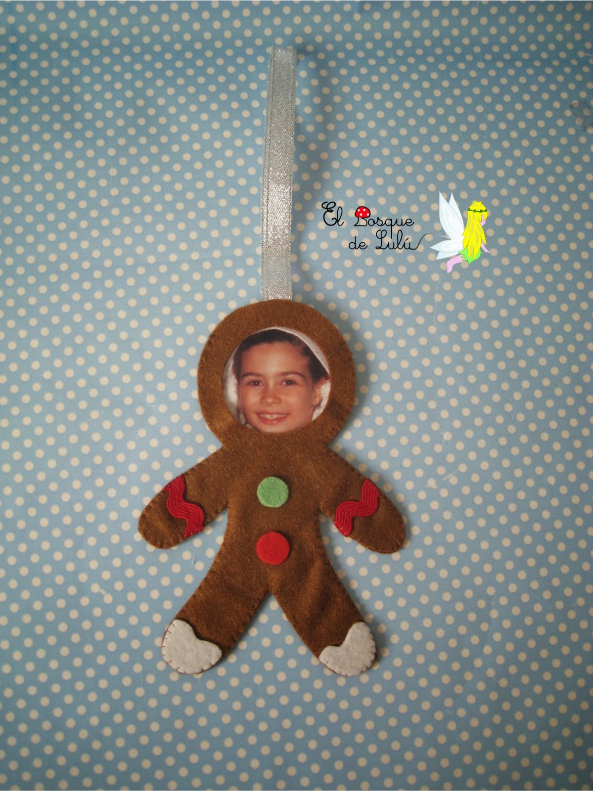 galleta-jengibre-fieltro-adorno-navideño-árbol-Navidad