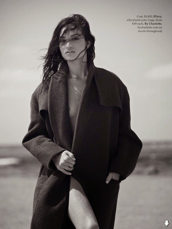 shanina shaik by derek henderson for elle australia july 20