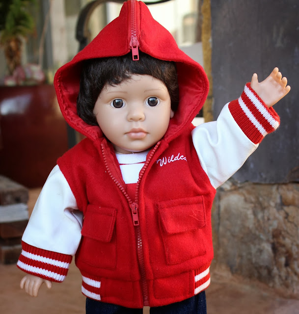 Boy Doll 18 inches, same size as American Girl, dark hair brown eyes