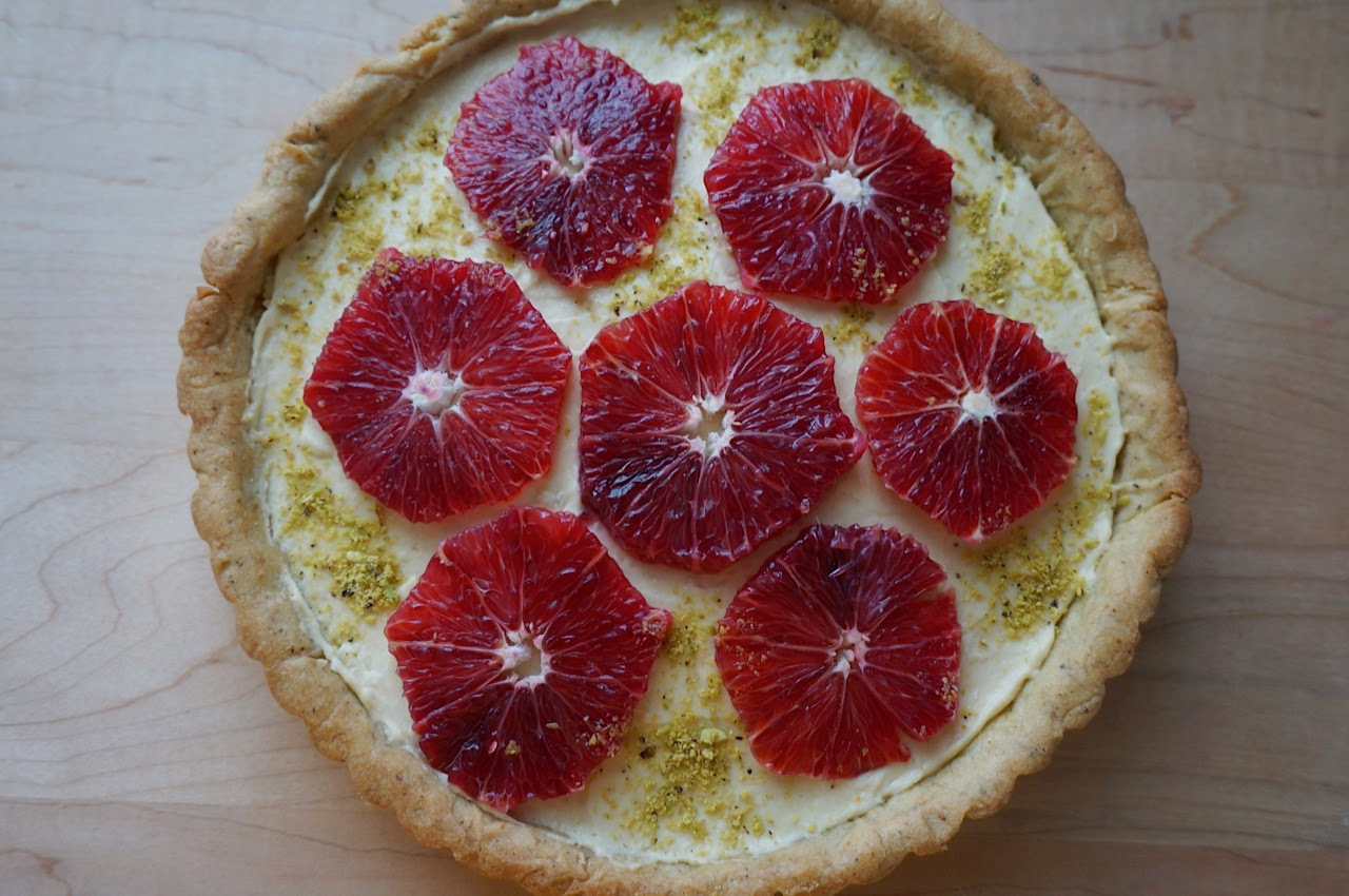 Johnisha's Pistachio Blood Orange Tart