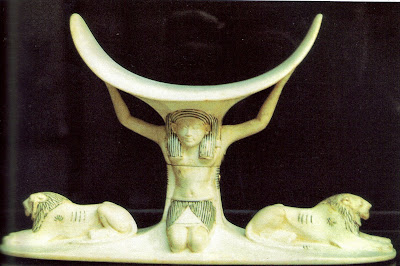 Ancient Egyptian headrest from tomb of Tutankhamen