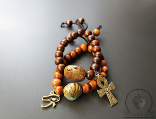 african wood beaded ankh bracelets