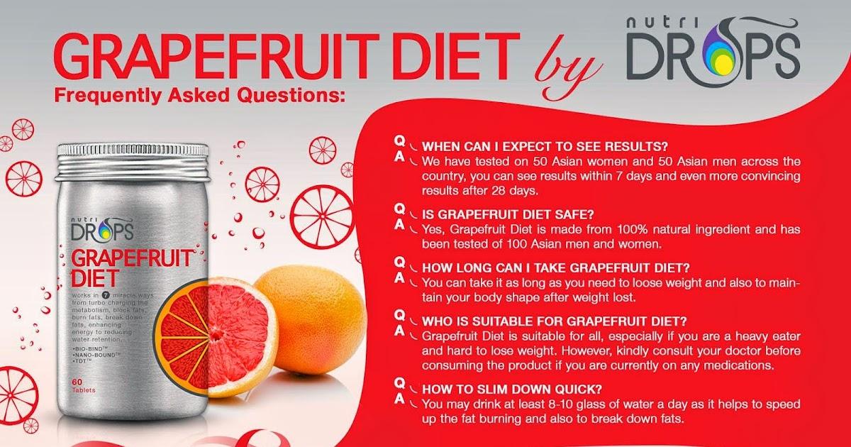 Grapefruit diet q a slimming expert for Belle jardin slimming expert
