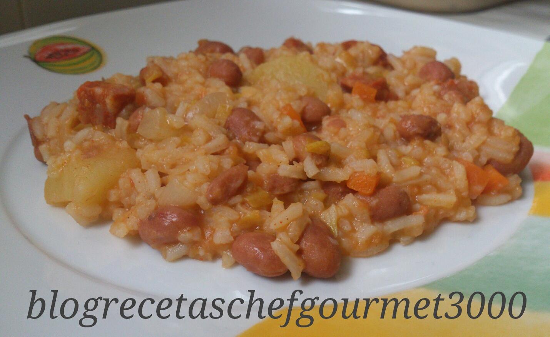 Las recetas de la chef gourmet 3000 judias pintas con arroz - Arroz con judias pintas ...