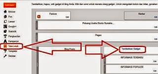 cara pasang widget blog