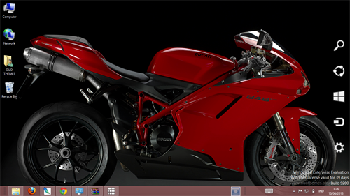 Ducati Superbike 848 Evo Theme For Windows 7 8 9 Blue