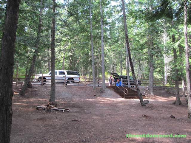 Outlet Campgrounds At Priest Lake, Idaho: Camp Area Parking - Site 14