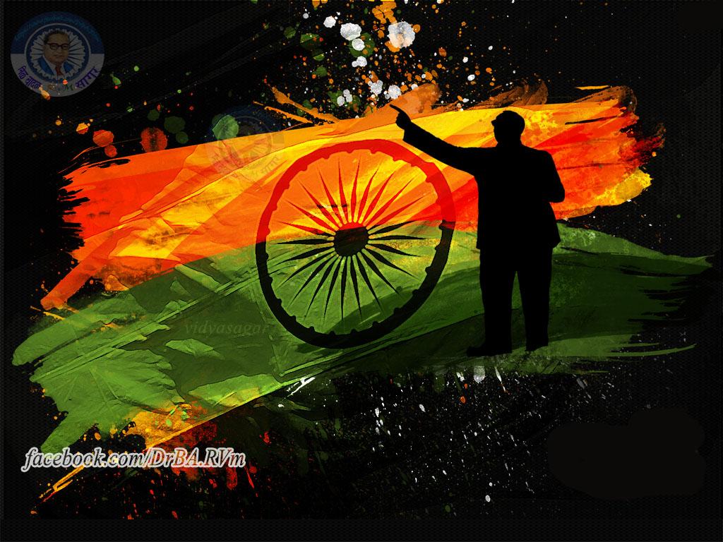 Happy independence day Ambedekar Wallpaper | Dr.Babasaheb