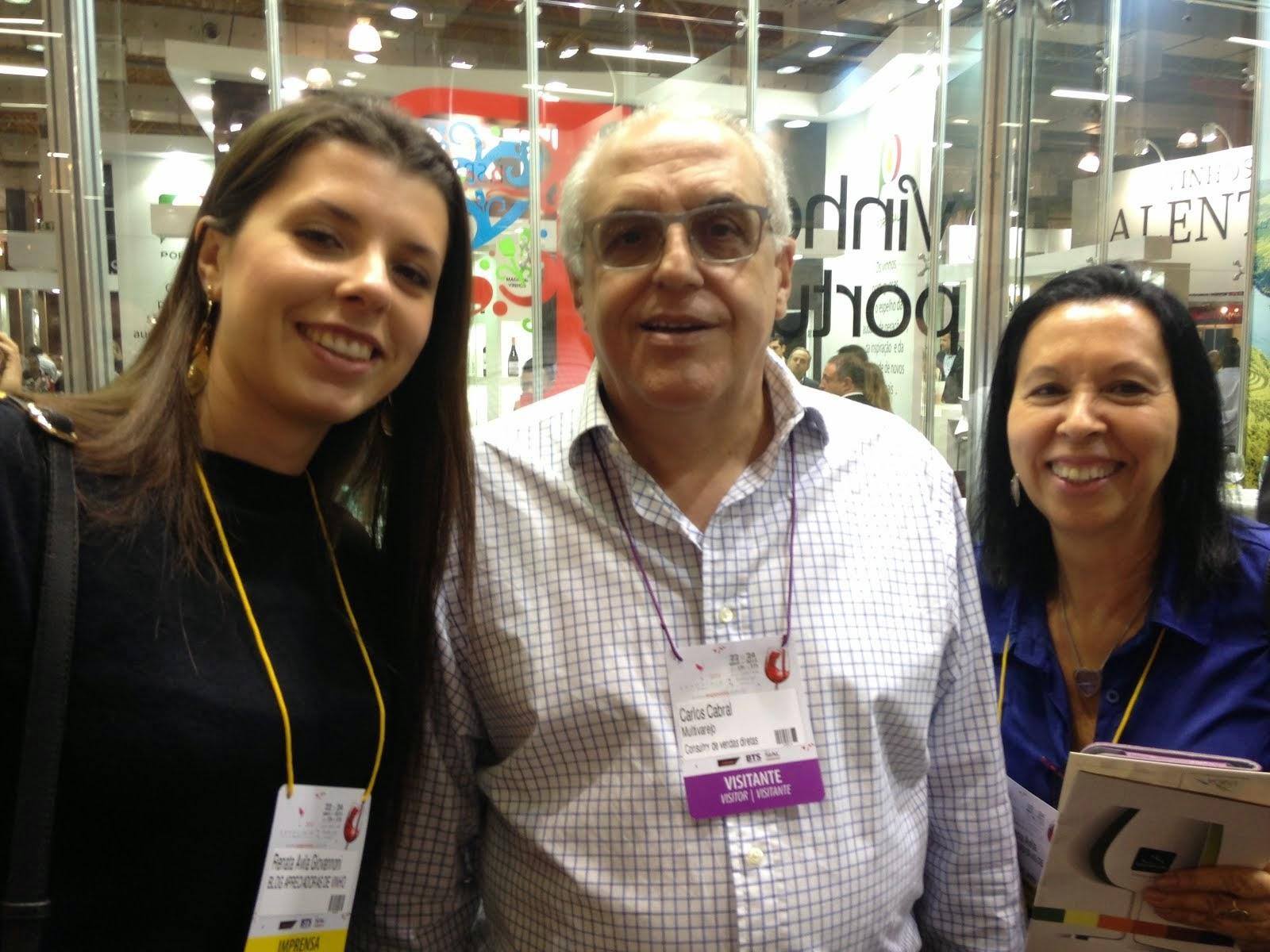 Momento  Expovinis 2015 com Carlos Cabral- consultor nacional de vinhos do Grupo Pão de Açúcar