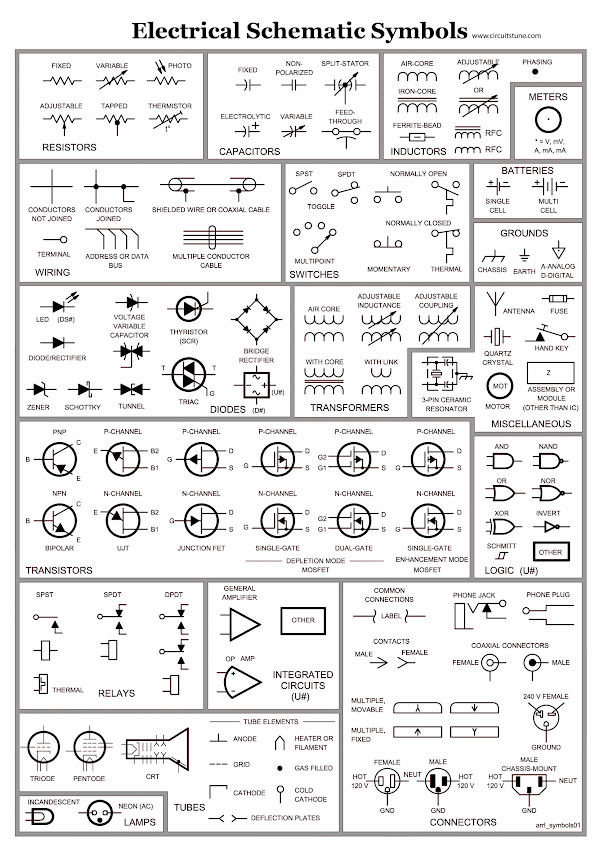 Electrical Schematic Symbols Circuitstunerhcircuitstune: Basic Electrical Schematic Symbols At Gmaili.net