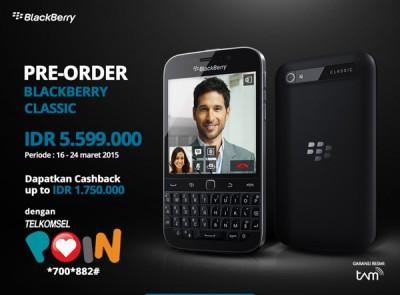 Pre-order Blackberry Classic Sudah di Buka, Harga Rp5,5 Juta-an