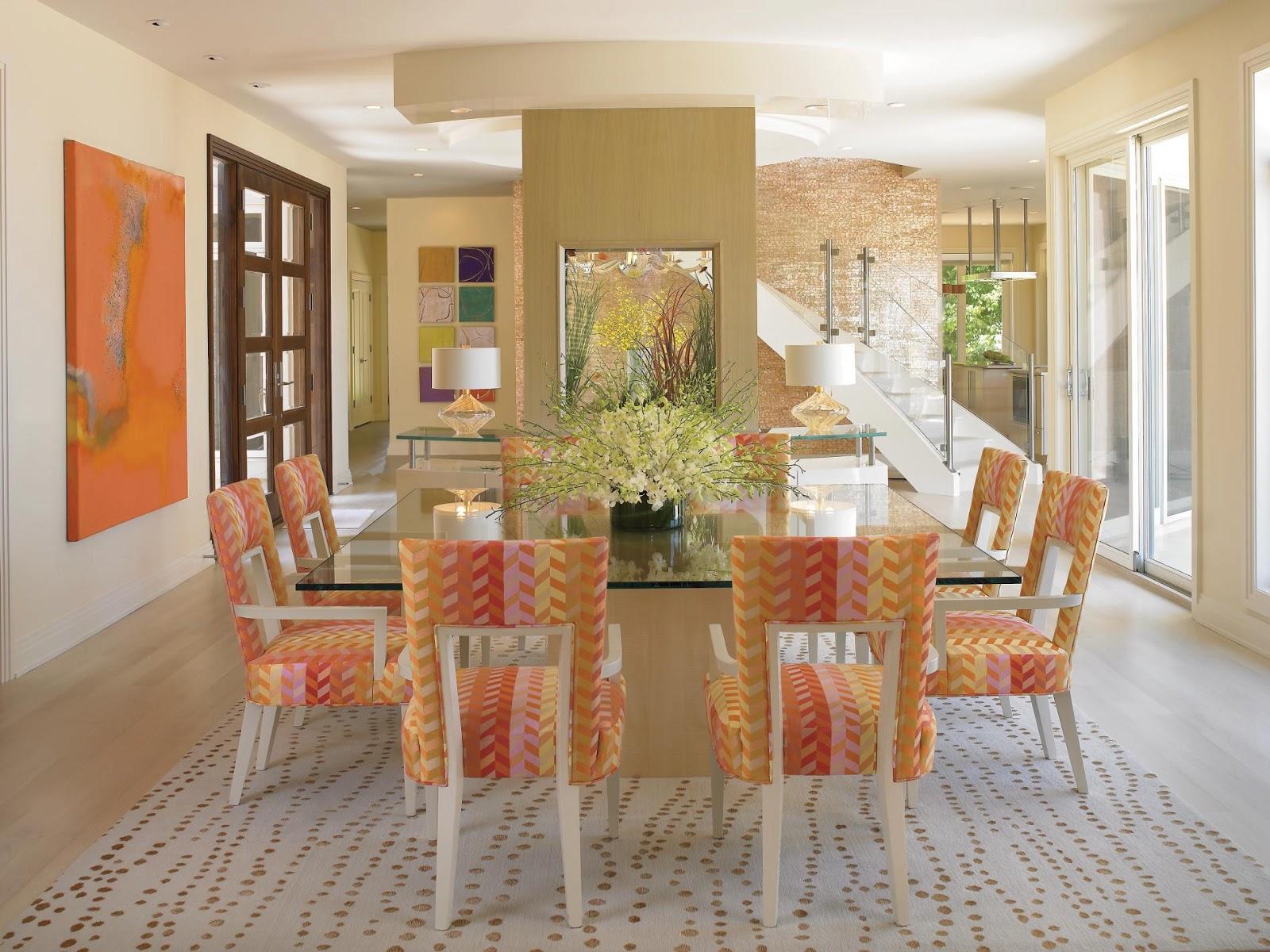 design Decoração e Cores para Sala de jantar 2013