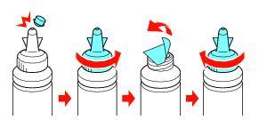 как открутить крышку емкости с чернилами