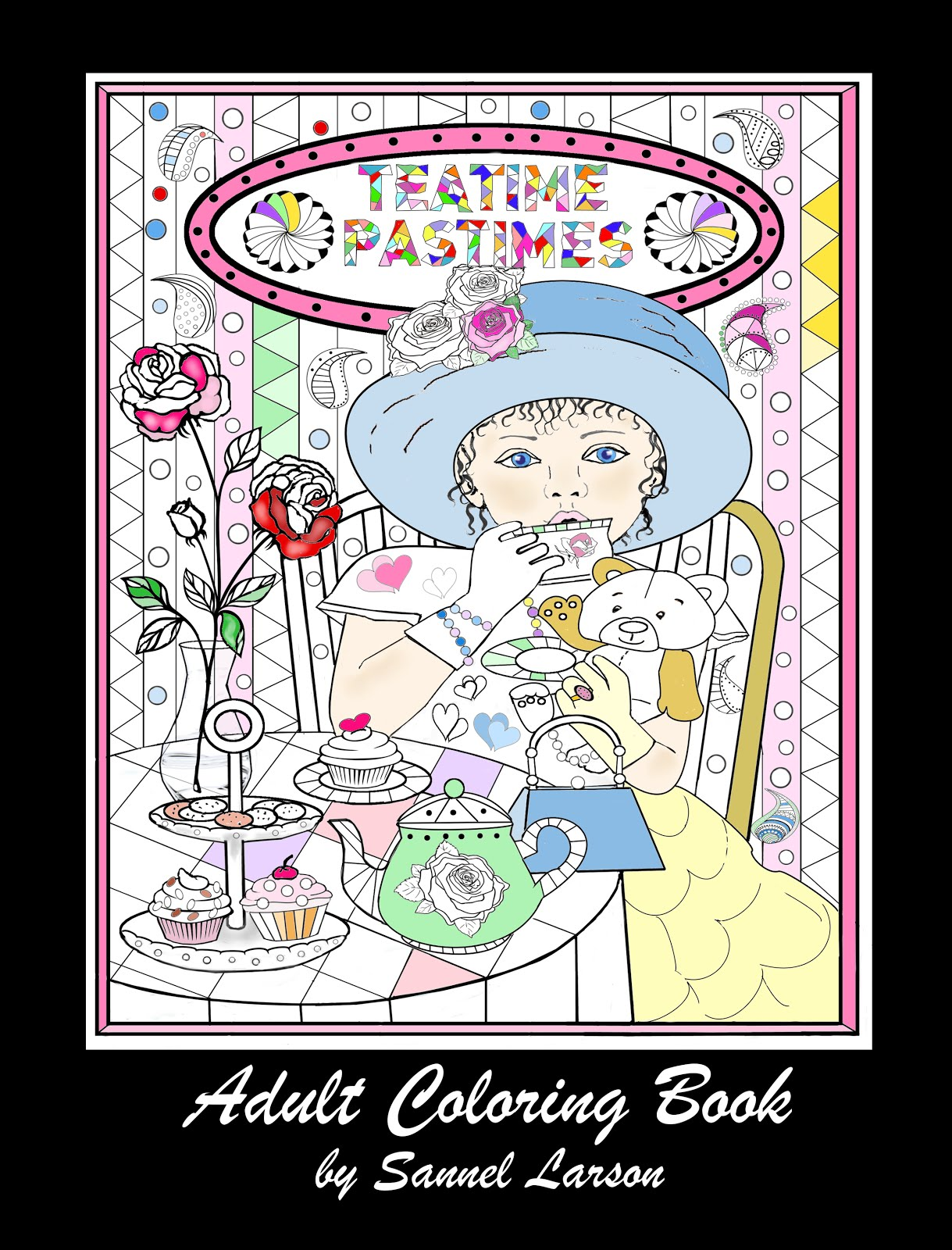 Teatime Pastimes-Adult Coloring Book by Sannel Larson
