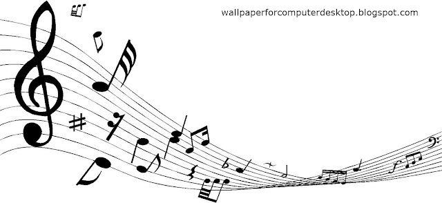DECORATIVE MUSIC NOTES Wallpaper