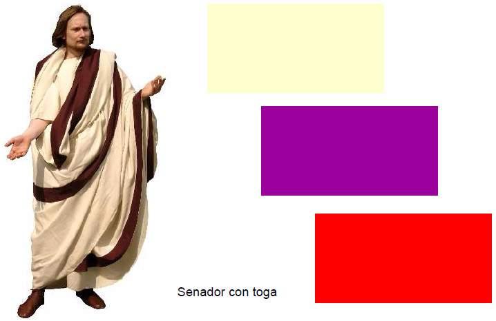 Senador romano con toga