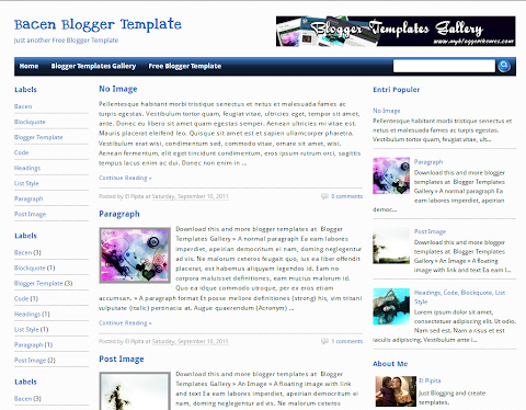 Bacen Blogger Theme