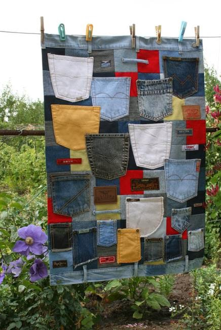 Recycled crafts fabrics jeans labels 6