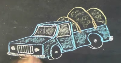 illustration of the Truckers' Hitch on a pickup
