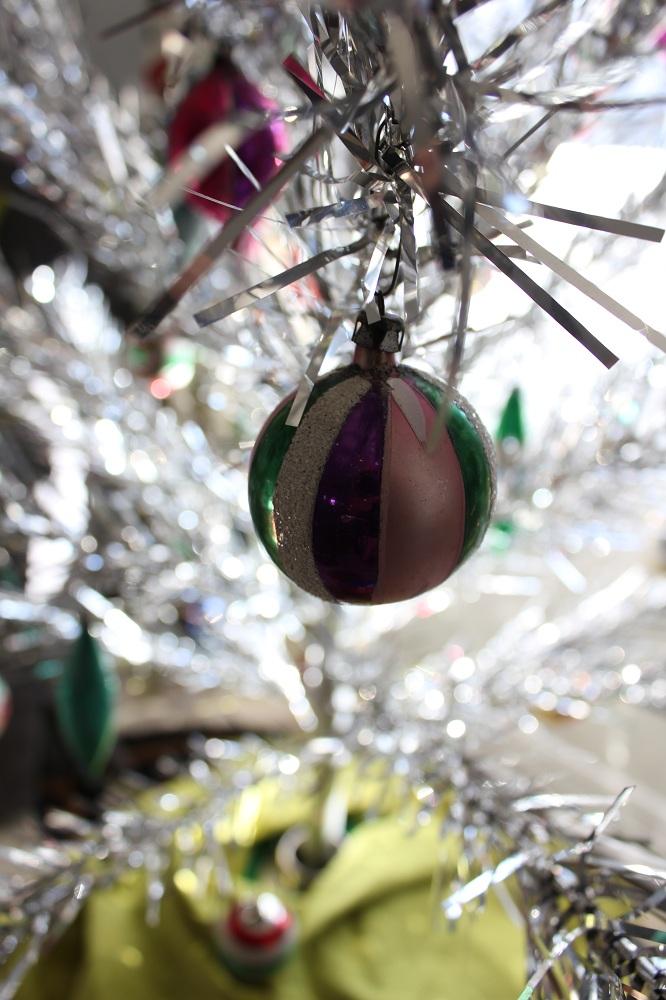 Pink Purple Green Ornament