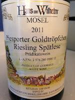 Hans von Wilhelm Piesporter Goldtröpfchen Riesling Spätlese