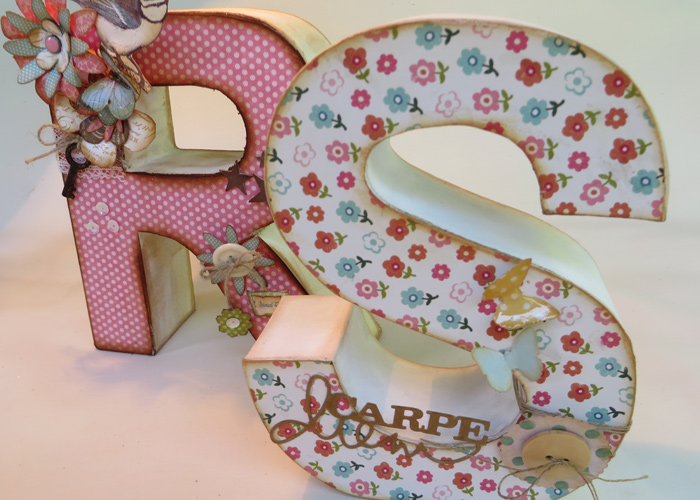 Marzua ideas para decorar letras de madera - Ideas para decorar letras de madera ...