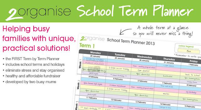 family calendar, family planner, family organiser, healthy fundraising, healthy fundraiser, school term planner